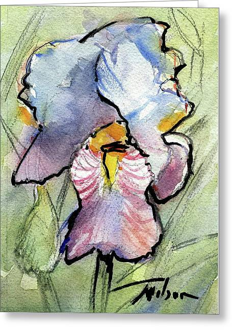 Iris With Impact Greeting Card by Ron Wilson