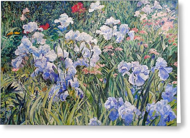 Irises Greeting Card by Andrey Soldatenko
