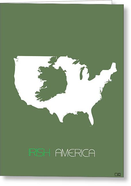 Irish America Poster Greeting Card by Naxart Studio