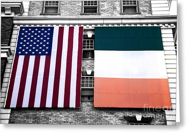 Irish American Fusion Greeting Card