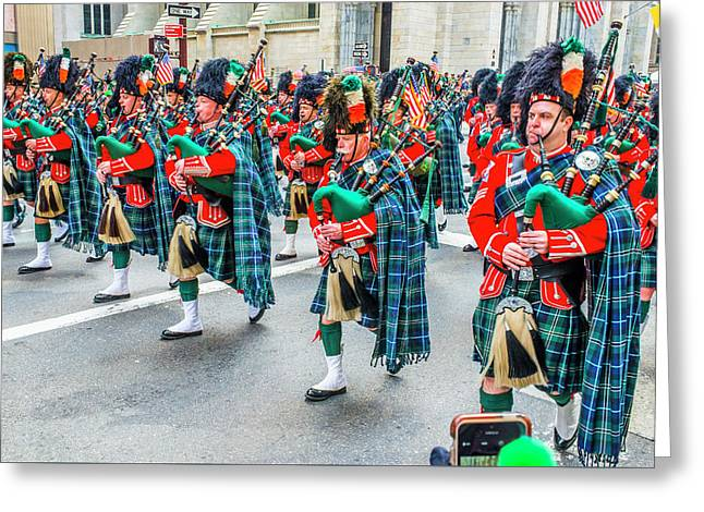 St. Patrick Day Parade In New York Greeting Card