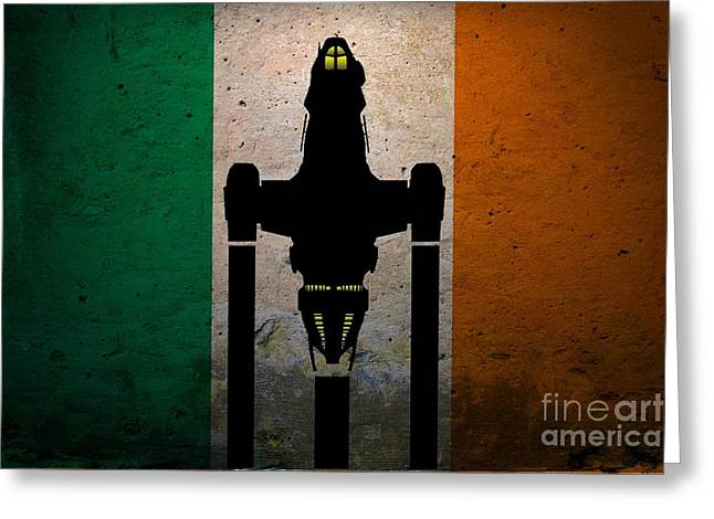 Irish Brown Coats Greeting Card by Justin Moore