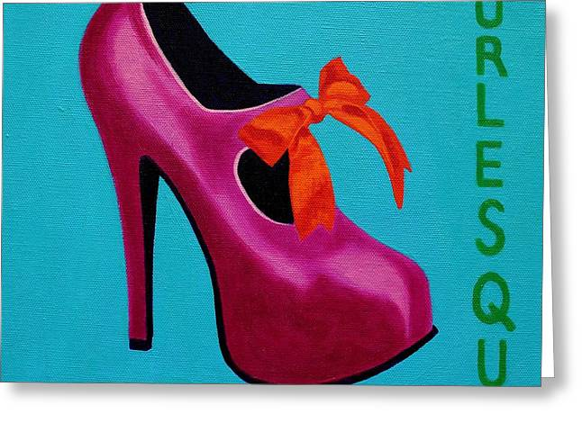Irish Burlesque Shoe    Greeting Card by John  Nolan