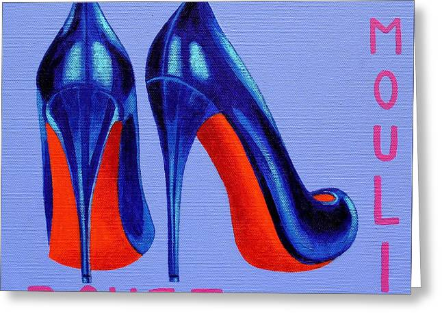 Irish Burlesque Shoes Greeting Card by John  Nolan