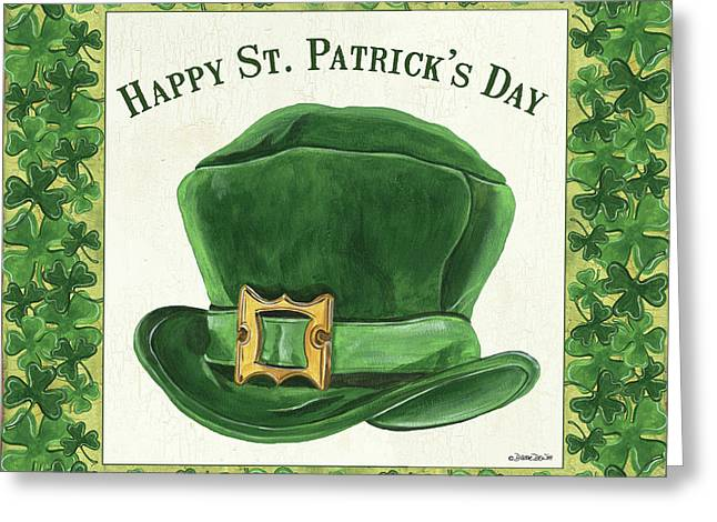 Greeting Card featuring the painting Irish Cap by Debbie DeWitt