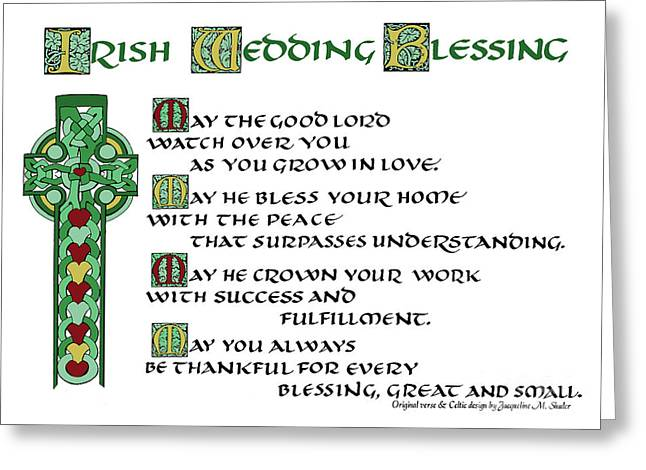 Irish Celtic Wedding Blessing Greeting Card
