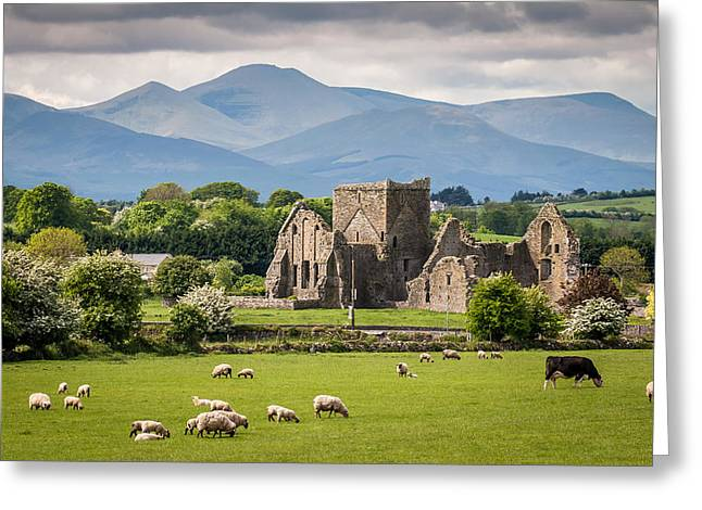 Irish Country Side Greeting Card by Pierre Leclerc Photography