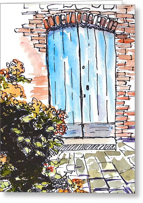 Irish Door Greeting Card by Renee Chastant