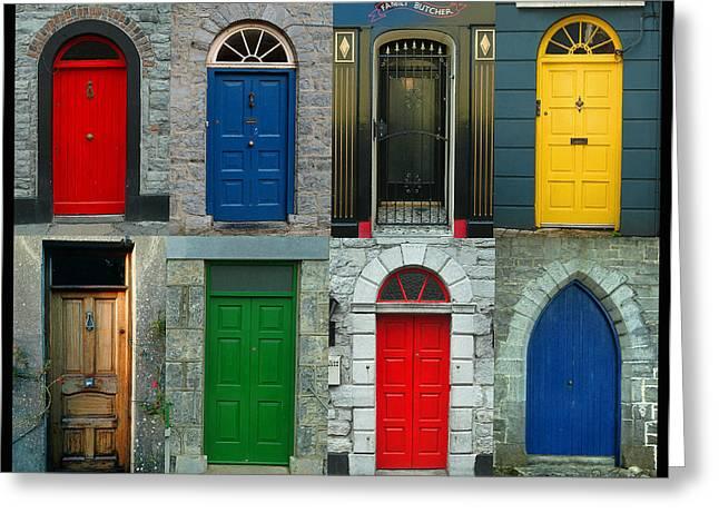 Irish Doors Greeting Card by Joe Bonita