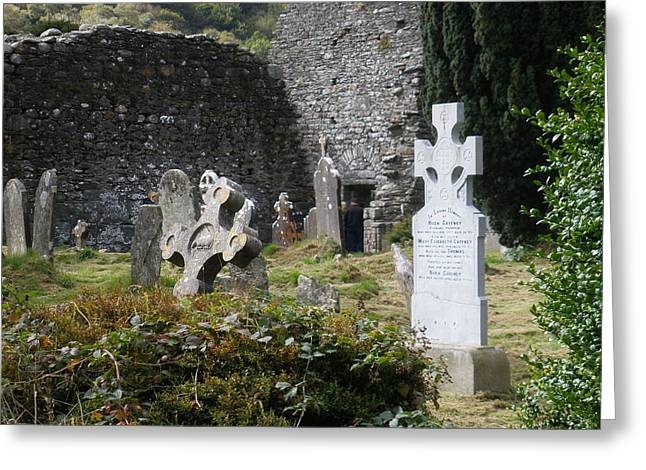 Irish Graves Greeting Card by Siobhan Yost