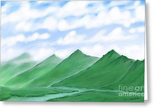 Irish Hills Greeting Card by Stacy C Bottoms