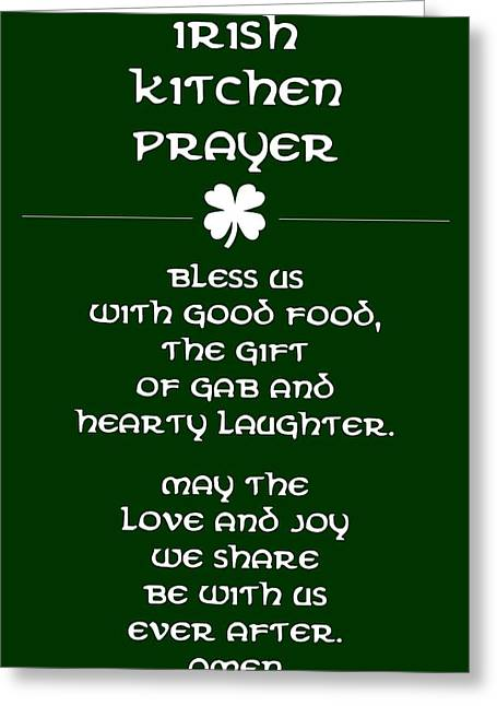 Irish Kitchen Prayer Greeting Card