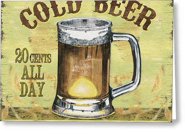 Irish Pub Greeting Card by Debbie DeWitt