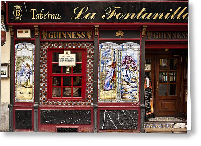 Irish Pub In Spain Greeting Card