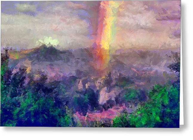 Irish Rainbow Greeting Card