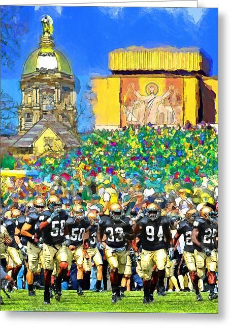 Irish Run To Victory Greeting Card