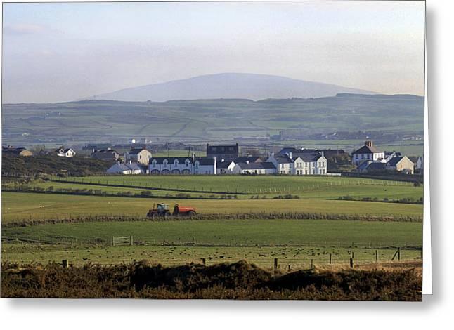 Irish Sheep Farm II Greeting Card by Henri Irizarri