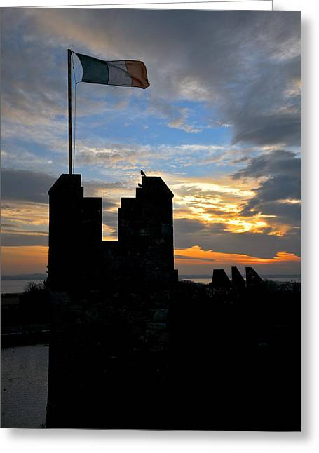 Irish Sunset Over Ramparts 1 Greeting Card