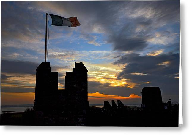 Irish Sunset Over Ramparts 2 Greeting Card