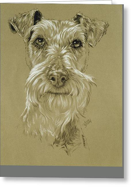 Irish Terrier Greeting Card by Barbara Keith