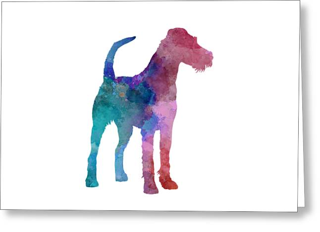 Irish Terrier In Watercolor Greeting Card by Pablo Romero