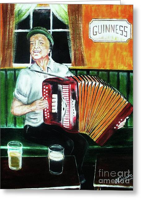 Irish Tradition Greeting Card by Liam O Conaire