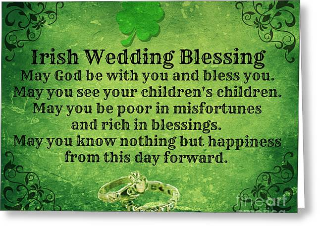 Irish Wedding Blessing Greeting Card
