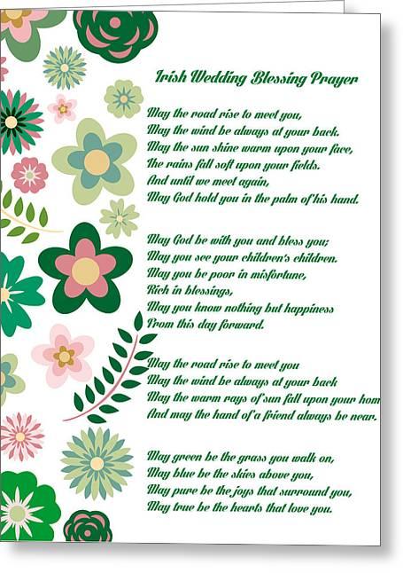 Irish Wedding Blessing Prayer Greeting Card