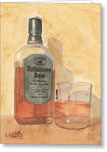 Irish Whiskey Greeting Card by Ken Powers