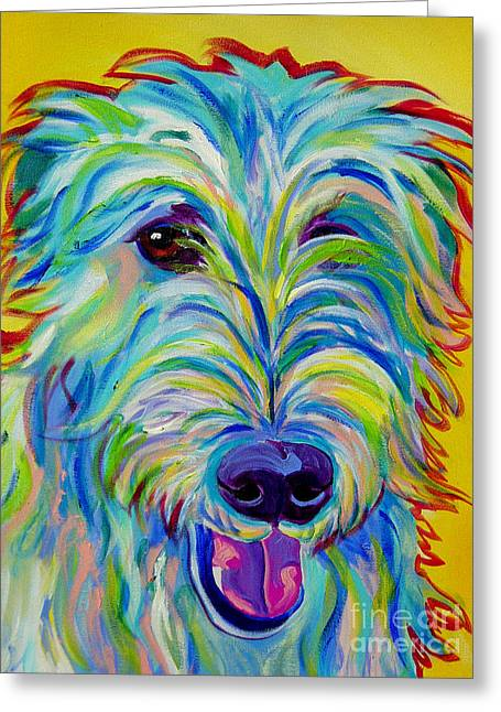 Irish Wolfhound - Angus Greeting Card
