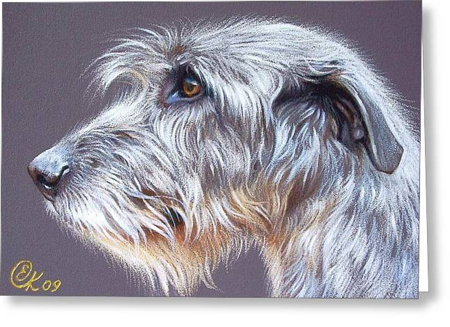 Irish Wolfhound  2 Greeting Card by Elena Kolotusha