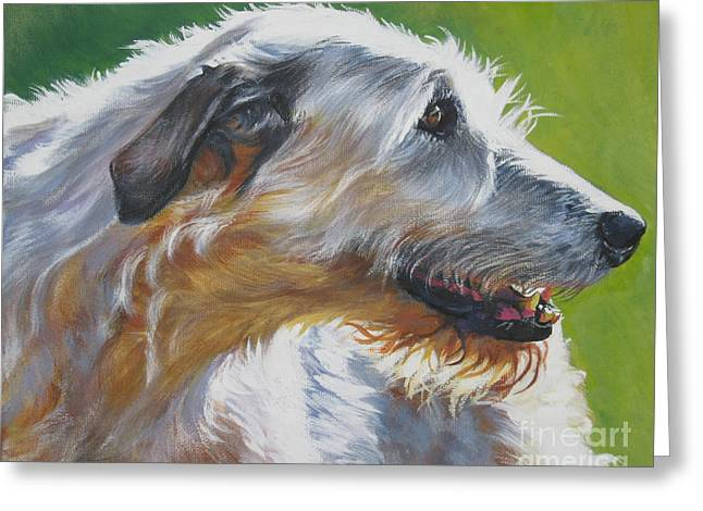 Irish Wolfhound Beauty Greeting Card by Lee Ann Shepard