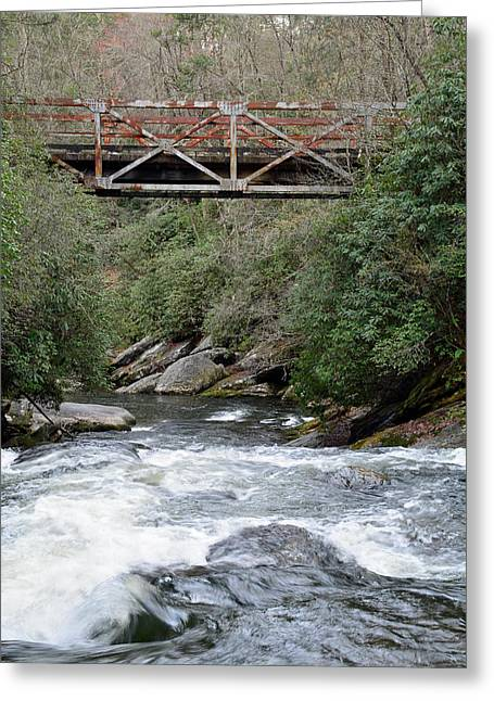 Iron Bridge Over Chattooga River Greeting Card by Bruce Gourley