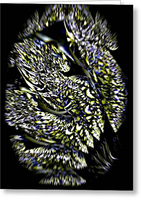 Iron Butterfly Wing In Flight Greeting Card by Rebecca Phillips