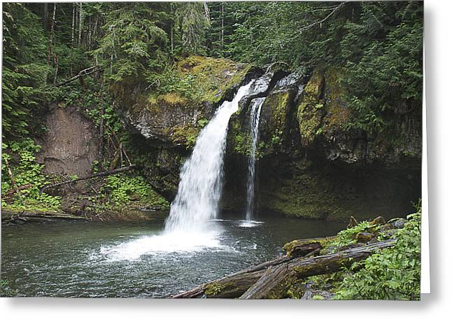 Iron Creek Falls Greeting Card