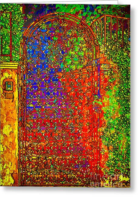 Iron Gate In Hollywood Greeting Card by Mariola Bitner