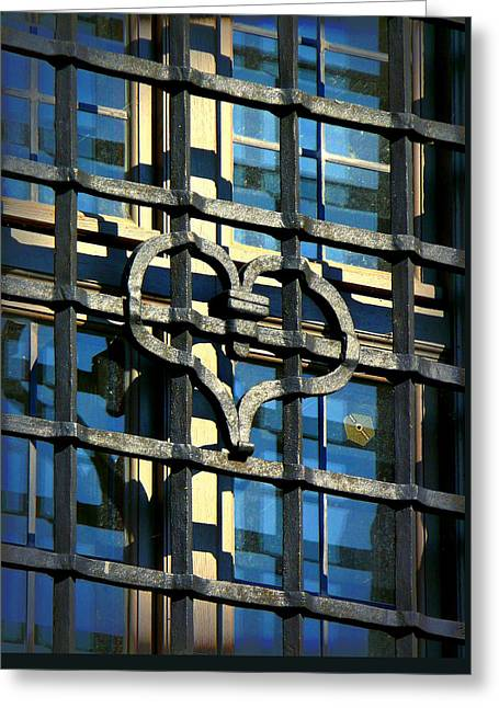Iron Heart Greeting Card by Lori Seaman