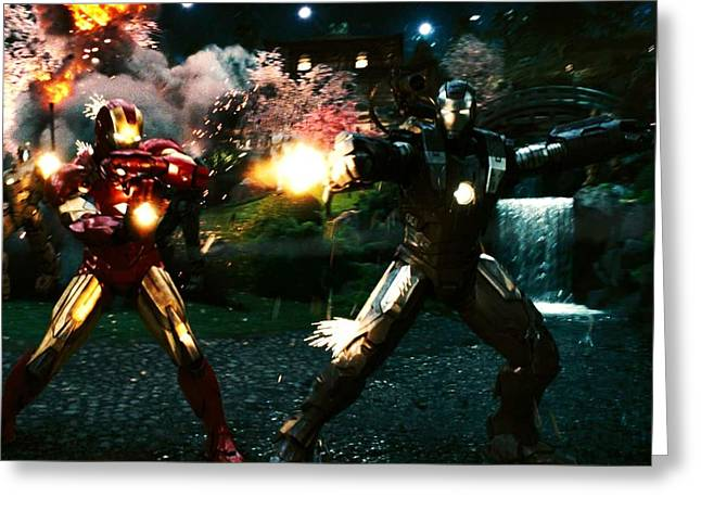 Iron Man 2 Last Scene Greeting Card