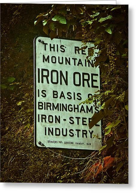 Iron Ore Seam Greeting Card