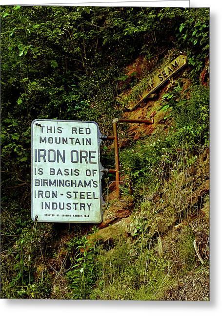 Iron Ore Seam Marker Greeting Card