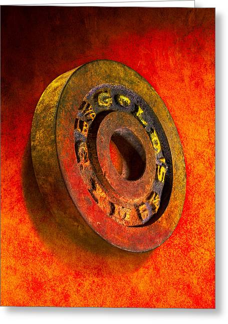 Iron Plate Greeting Card by YoPedro