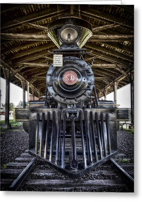 Iron Range Railroad Company Train Greeting Card by Bill Tiepelman