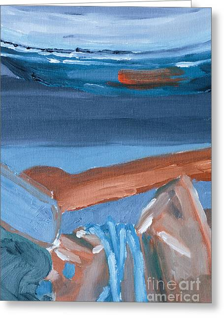 Iron Still Life Abstract Oil Painting Greeting Card by Edward Fielding