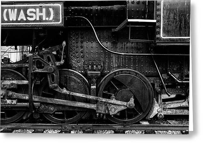 Iron Wheels Greeting Card by Mark Kiver