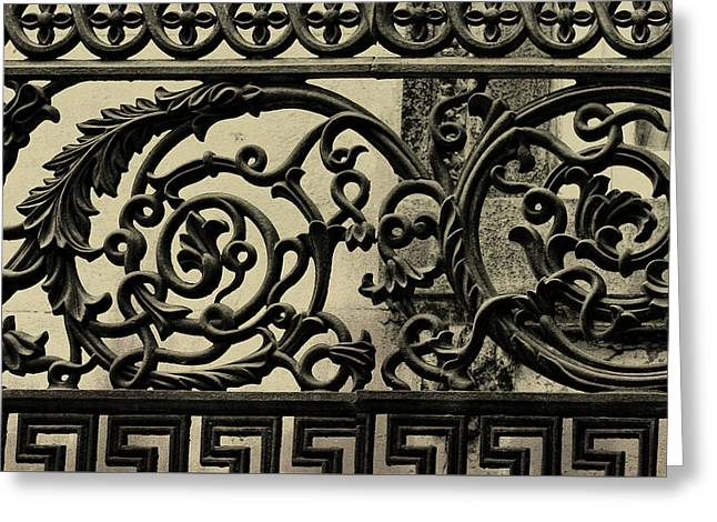 Iron Work Greeting Card by JAMART Photography