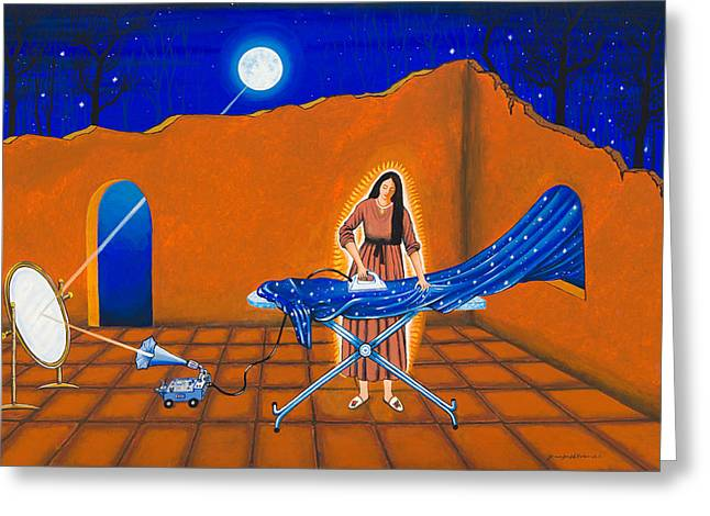 Ironing Greeting Card by James Roderick