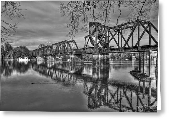 Ironman Trestle 2 6th Street Bridge Augusta Georgia Greeting Card by Reid Callaway