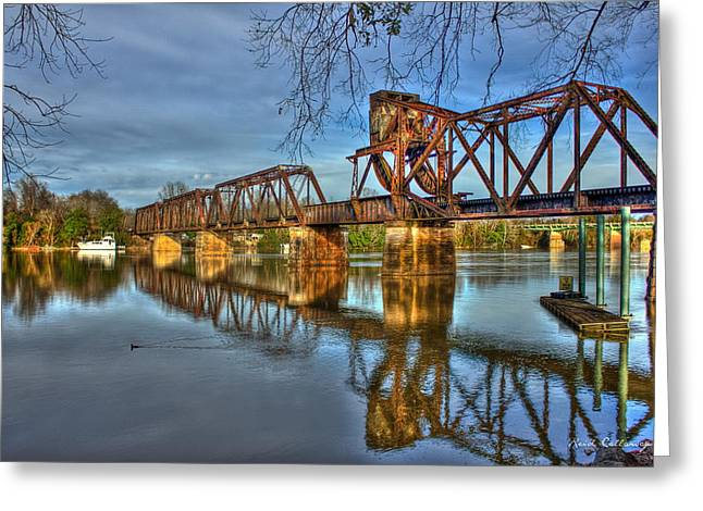 Ironman Truss Augusta Ga 6th Street Trestle Bridge Greeting Card by Reid Callaway