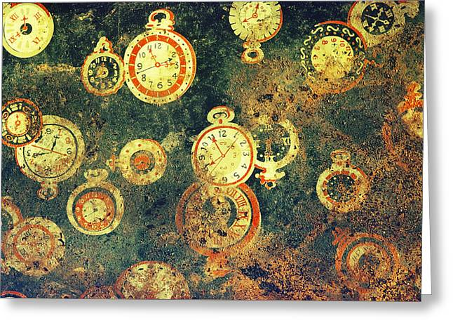 Irreconcilable Implications Of Time Greeting Card by Terrance DePietro
