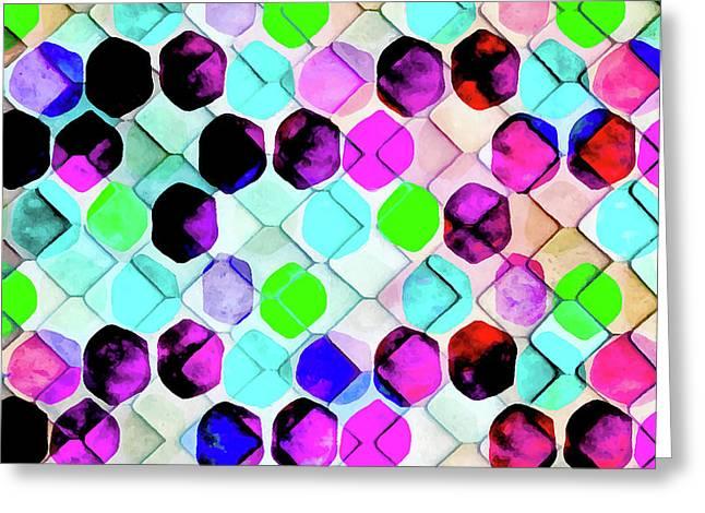 Irregular Hexagon Greeting Card by Uma Gokhale